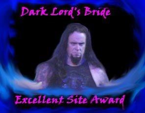 Dark Lord's Bride Excellent Site Award